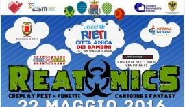 """REATOMICS"" 22/05/2016 a Rieti ""Città amica dei bambini"""