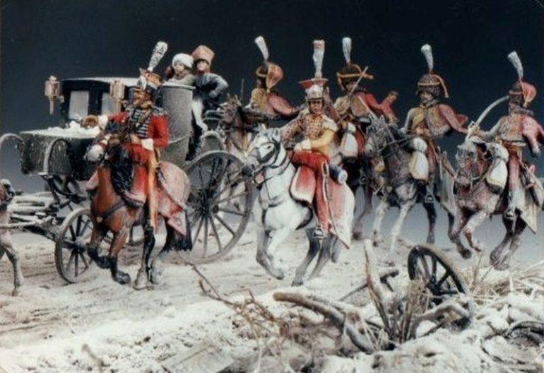 LA BERLINA DELL'IMPERATORE – DIORAMA – Sezione Storica Napoleonica – G. Centanni