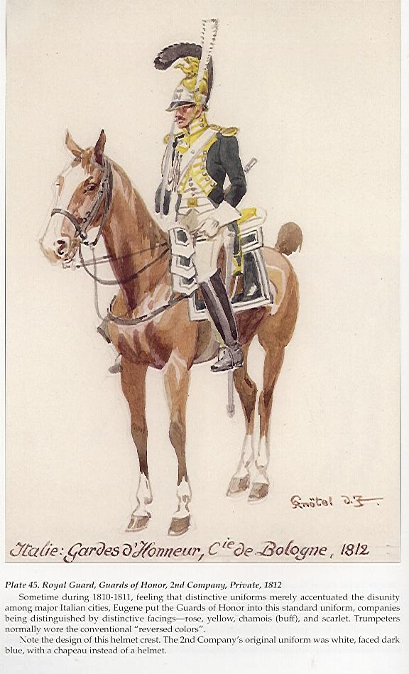 45. Royal Guard, Guards of Honor, 2nd Cy, Private, 1812