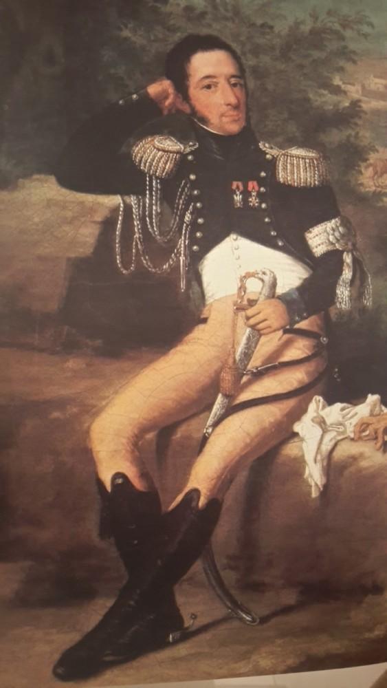 Dipinto Giacinto Lonati Uniforme da Maggiore - Aiuto di Campo dell'Armata d'Italia