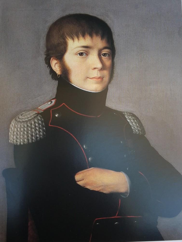 Dipinto Giovanni Maria Mazzucchelli - Tenete colonnello Artiglieria 1806